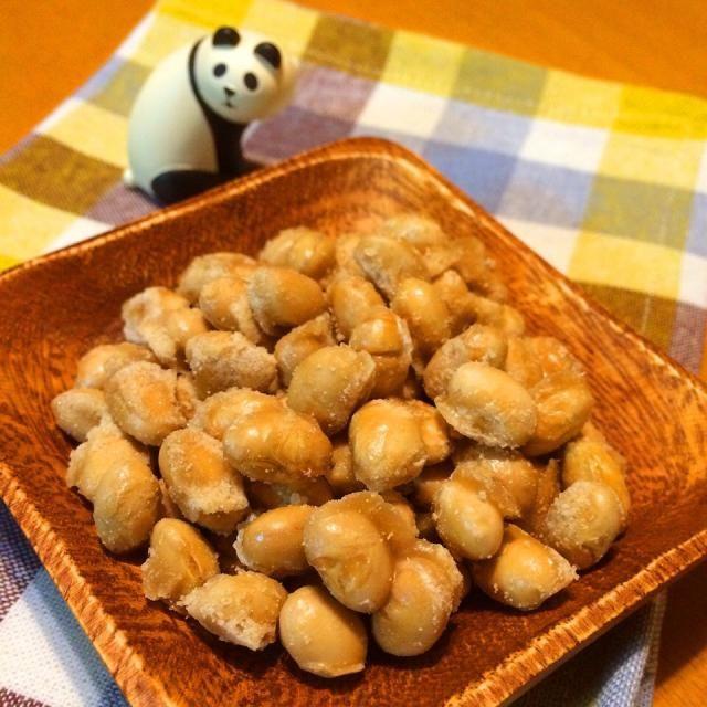 節分豆の残りでカリカリ豆菓子 食べ物のアイデア 菓子 甘い
