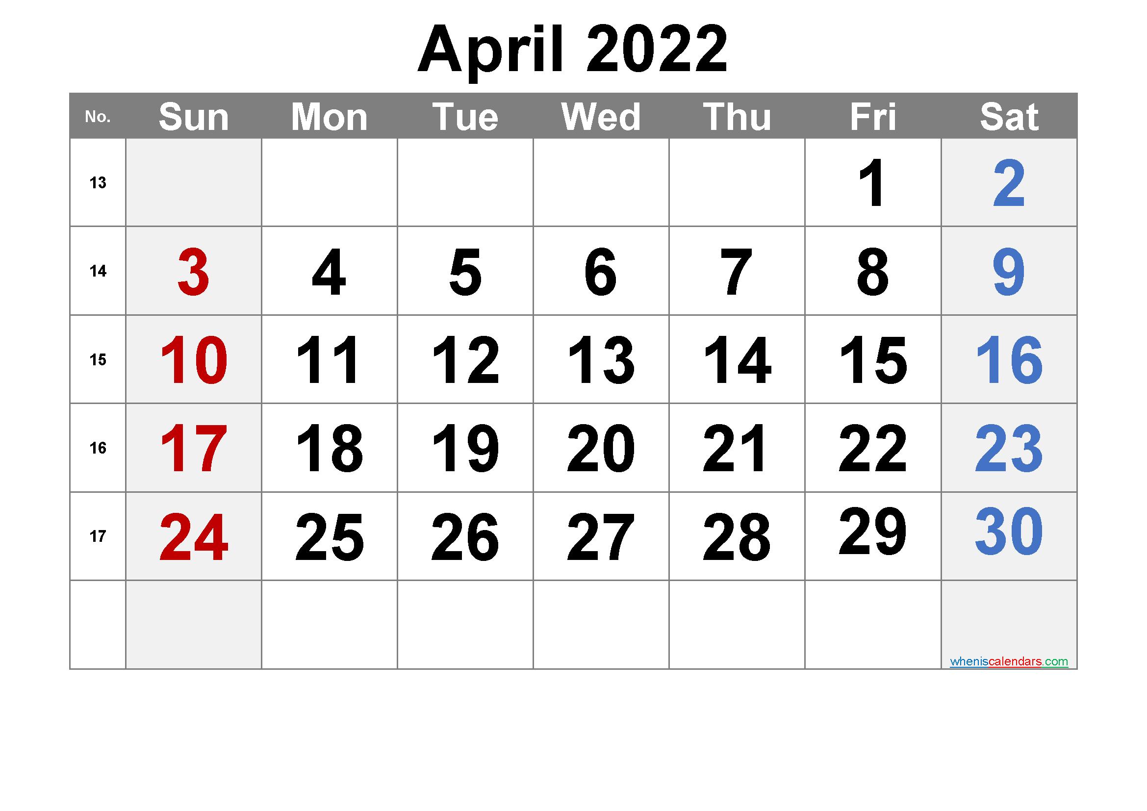 Apr 2022 Calendar.Free April 2022 Calendar Free Premium Calendar Printables Printable Calendar Template Free Printable Calendar