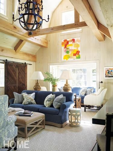 Multiple seating areas insure there is room for all in this cozy ...