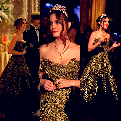 Schon Black And Gold: Blair Waldorf Dress Gossip Girl