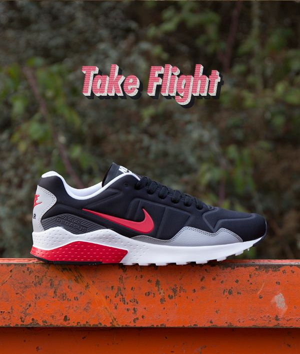 Nike Air Zoom Pegasus 92: Black/Red/Grey