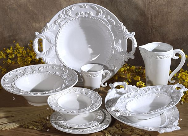 Made by Intrada Italy. Brand Intrada Best of Italy. Intrada Italy Baroque White Salad Plates Set of Part Compliment your white dinner plates with this set ... & Tuscan Dinnerware | White Tuscan Neiman Marcus 16pc Dinnerware Set ...