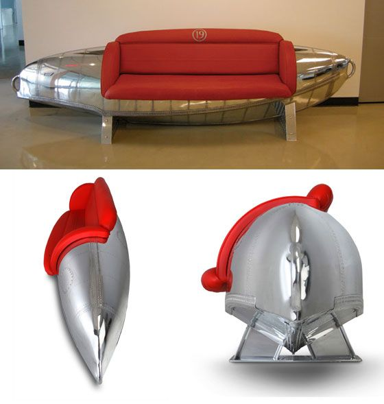Cool Furniture Made From Vintage Airplane Parts Designswan Com Cool Furniture Aviation Furniture Furniture Making