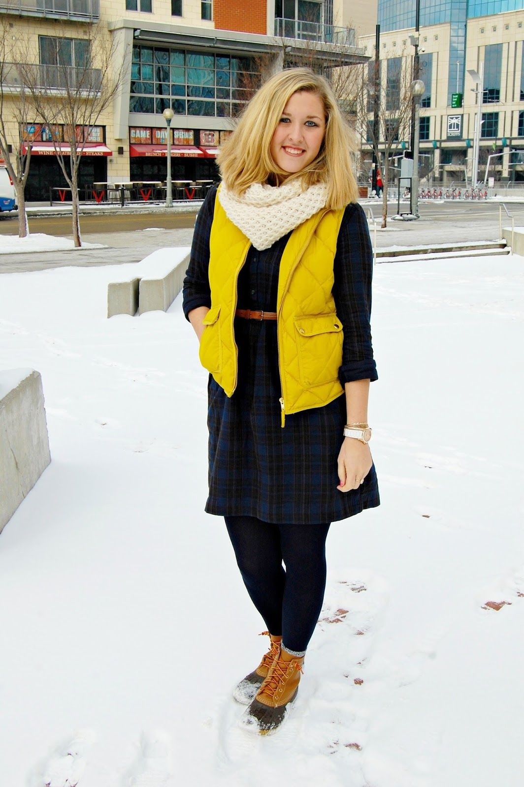 7c7827f9f39 Winter Work Wear: How to Style L.L. Bean (Duck) Boots for the Office ...