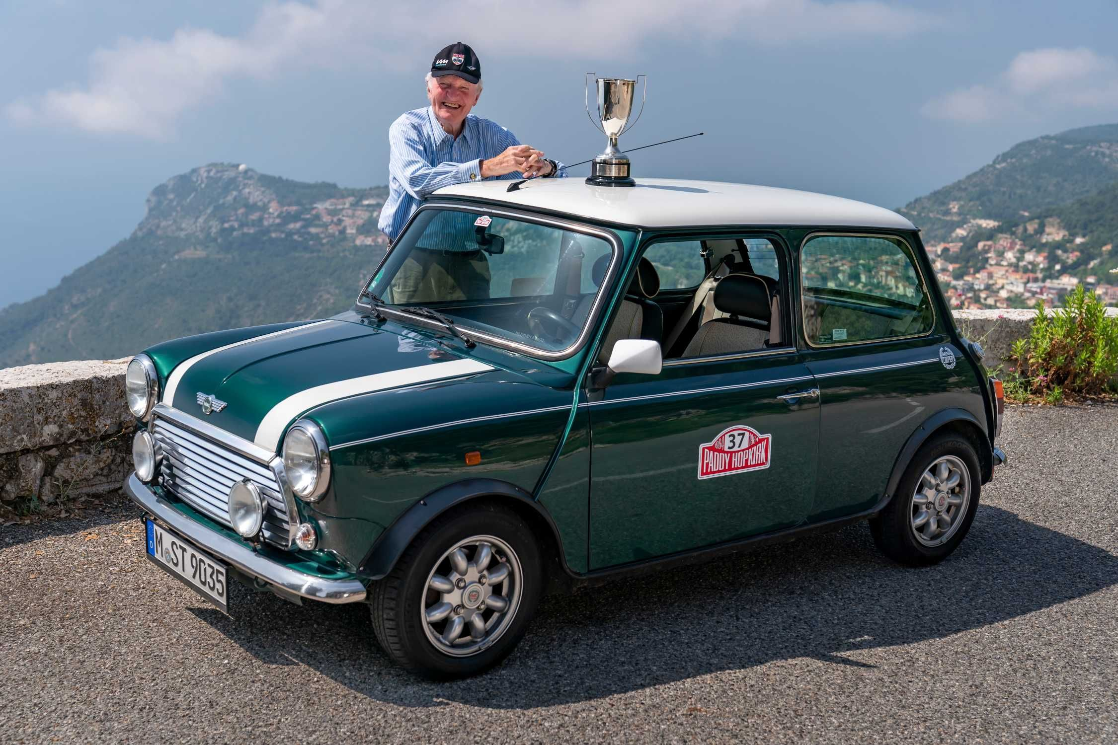 Paddy Hopkirk Gentleman legend in the classic Mini and
