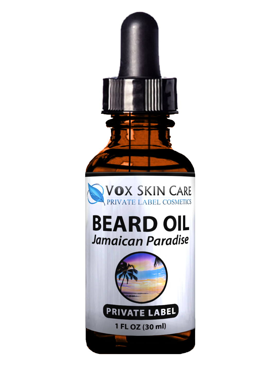 Private Label Beard Oil Jamaican Paradise Scented Cosmetic Skincare