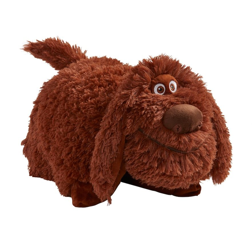 Pillow Pets Secret Life Of Pets Duke Stuffed Animal Plush Toy Brown In 2020 Animal Pillows Secret Life Of Pets Cute Stuffed Animals
