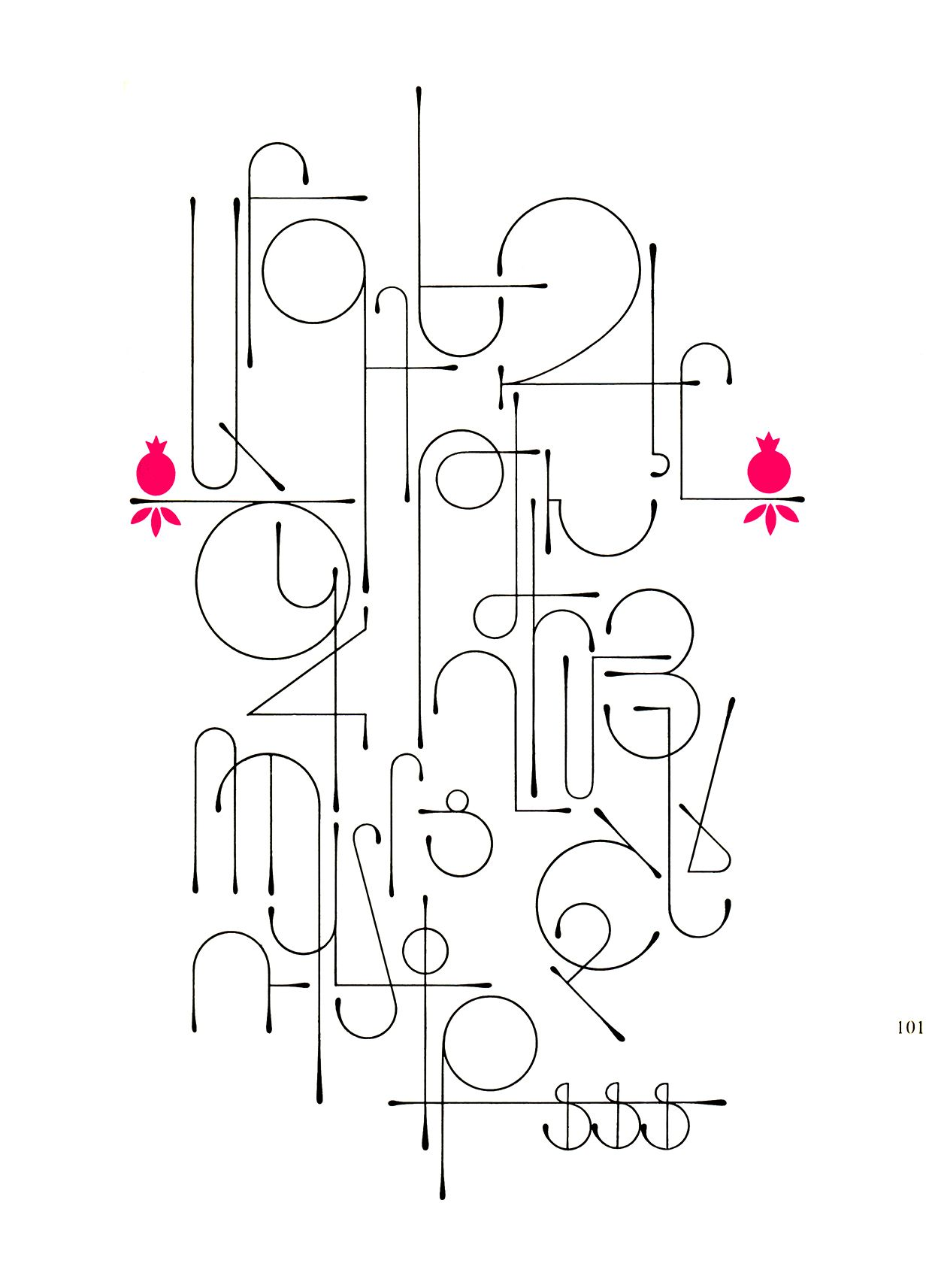From Fred Africkian's The Art of Letter Type (Armenian