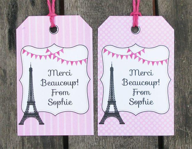 Paris Party Printables, Invitations & Decorations – pink