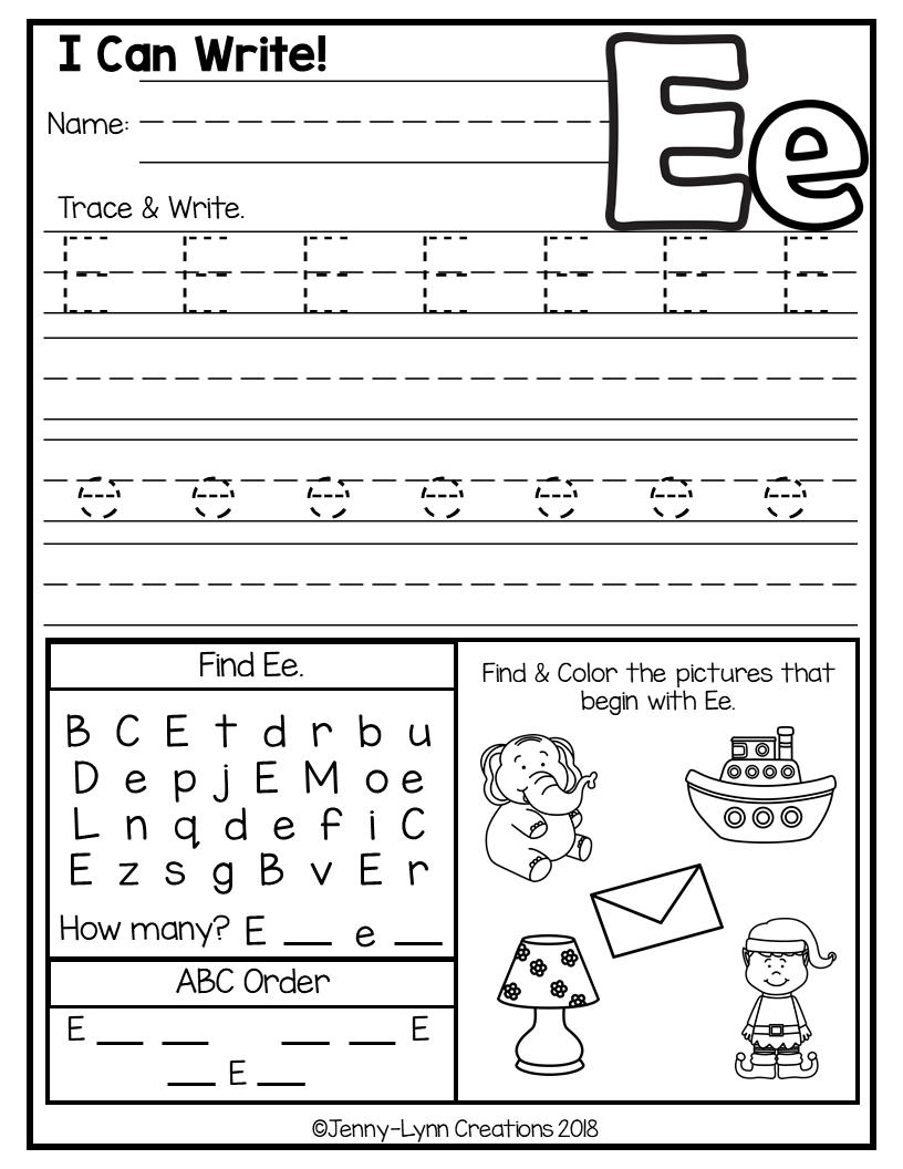 Kindergarten ABC Worksheets   Abc worksheets, Preschool ...