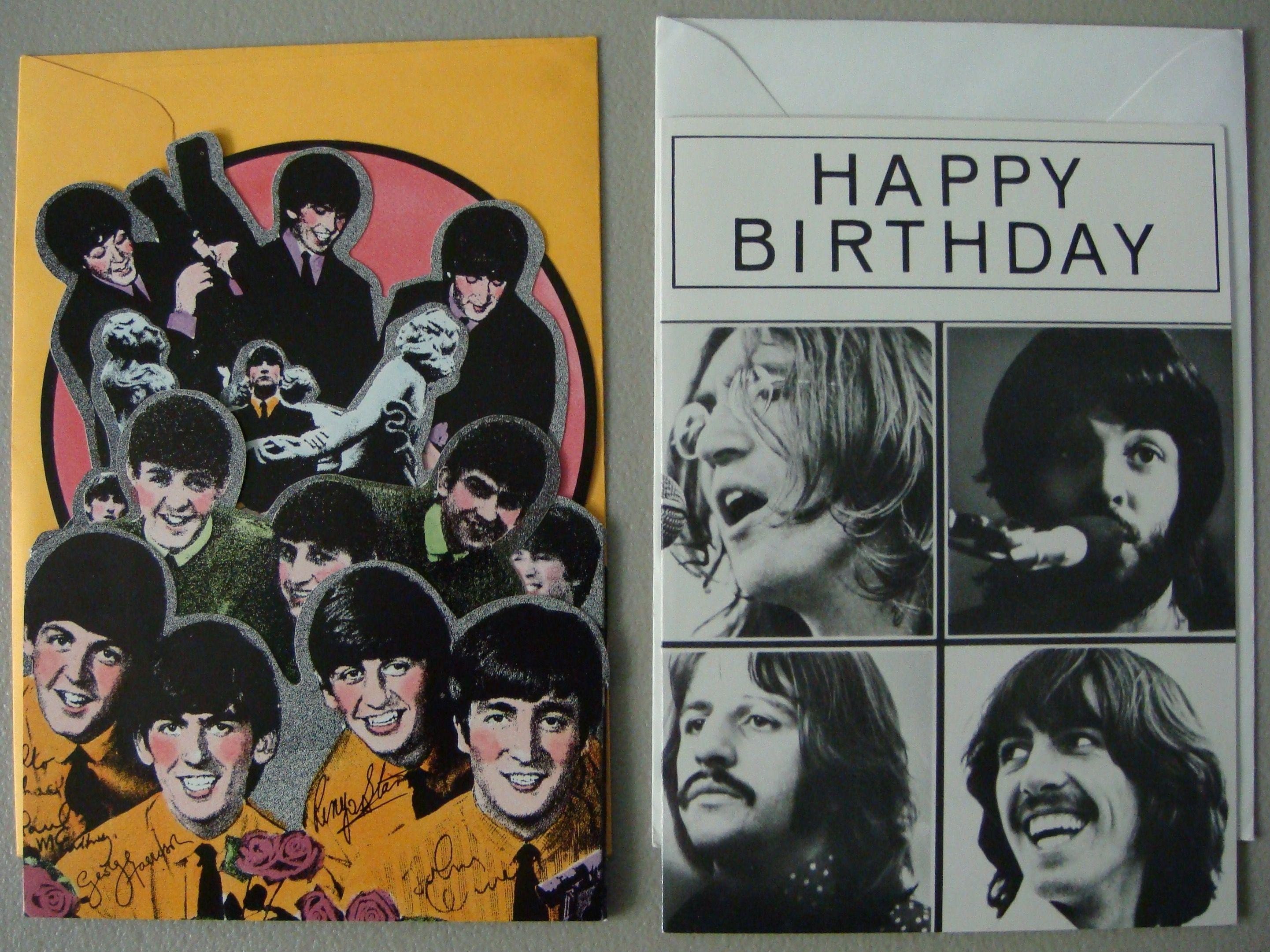 The Beatles Birthday Card Gallery Free Birthday Cards