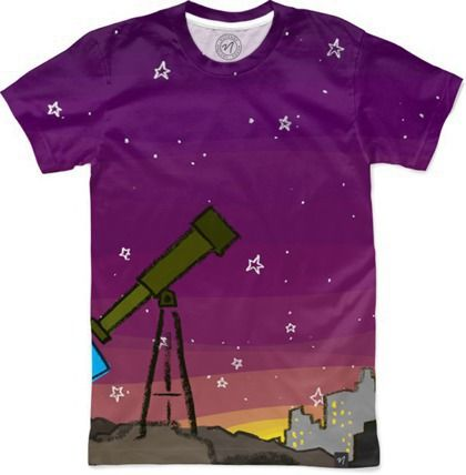 Space Dog Telescope Men's Classic T-Shirt by ExplodingDog | Nuvango