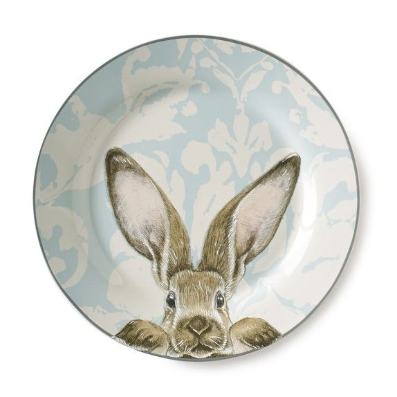 Damask Bunny Dinner Plates Set of 4 | My Miscellaneous u0026 Random Items Wishlist | Pinterest | Dinner plate sets and Easter  sc 1 st  Pinterest & Damask Bunny Dinner Plates Set of 4 | My Miscellaneous u0026 Random ...