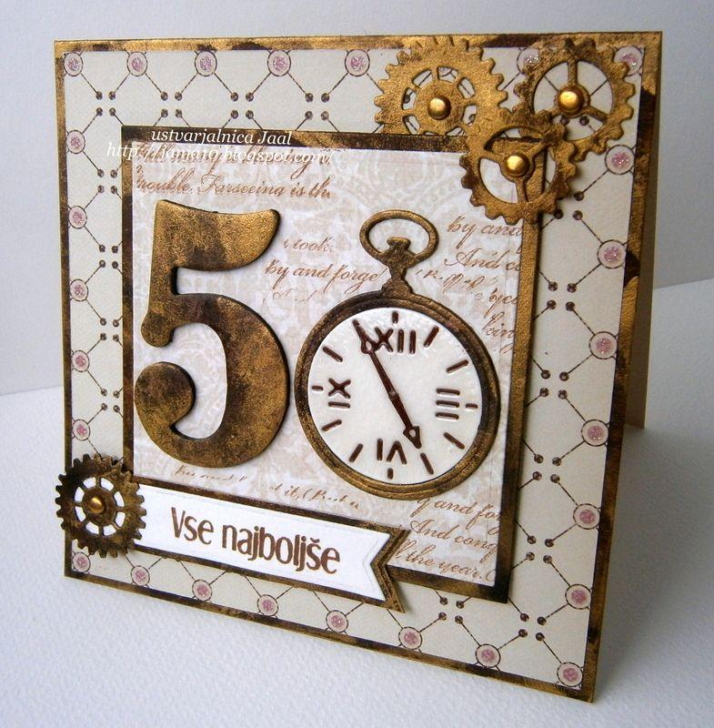 Craftalnica Okroglo praznovanje Birthday cards for