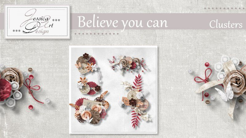Believe you can clusters by Jessica art-design