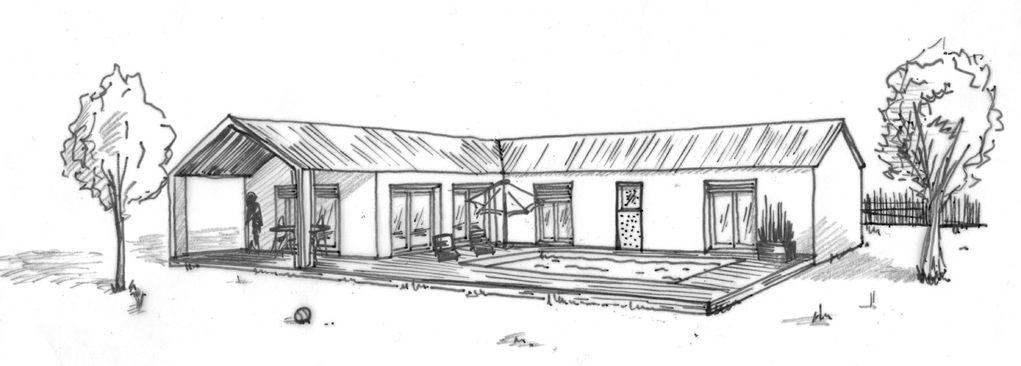 maison en l Plan maison en L avec 4 chambres - Ooreka Maison