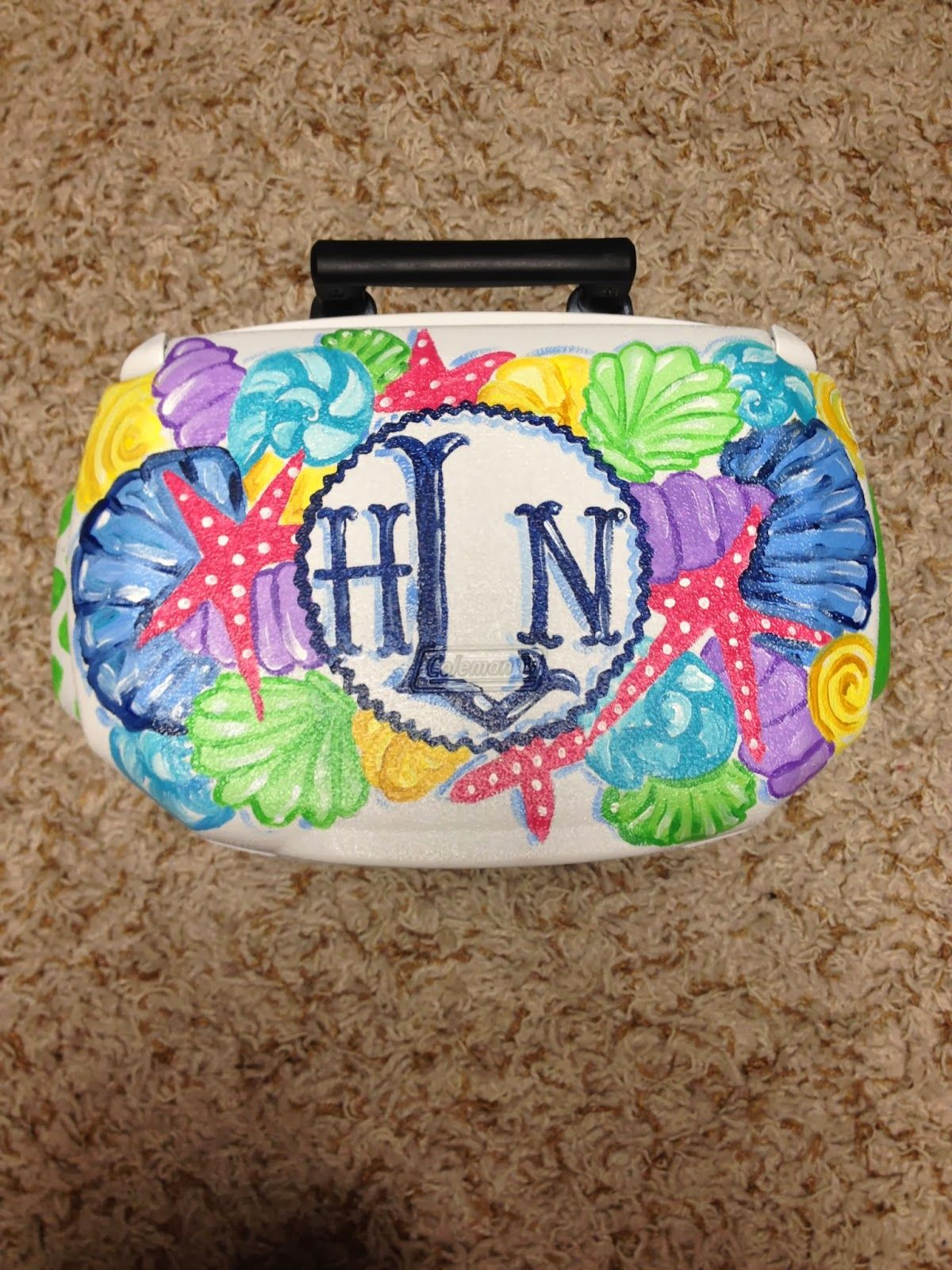 monogrammed starfish cooler get your yeti cooler form       desotowarehouse com