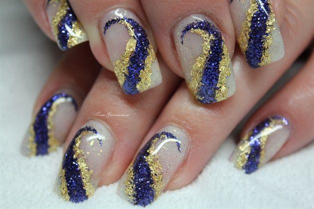 Purple glitter - Nail Art