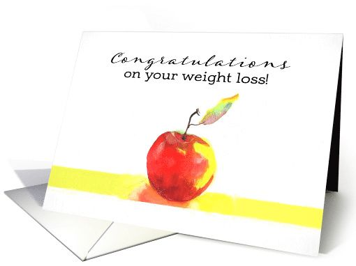 Congratulations on your weight loss apple painting card greeting congratulations on your weight loss apple painting card personalize any greeting card for no additional cost m4hsunfo