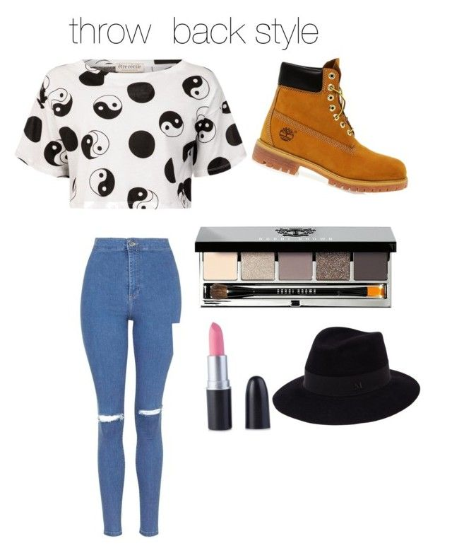 """""""Untitled #5"""" by alessandra0520g ❤ liked on Polyvore featuring Être Cécile, Topshop, Timberland, Bobbi Brown Cosmetics and Maison Michel"""