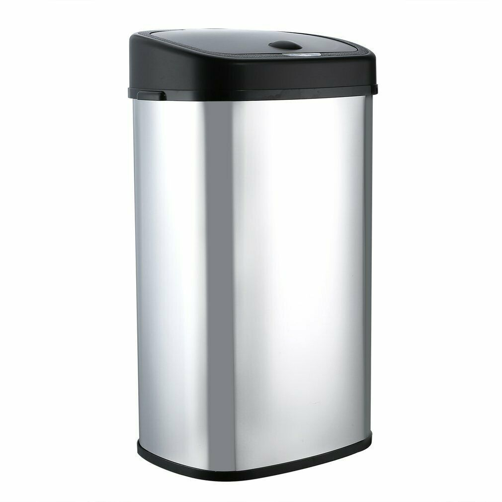 Trash Can 15 Gallon 58l Bathroom Small Kitchen Touchless Slim Smart Dustbin Bp Trash Cans Ideas Of Trash Cans Small Bathroom Trash Can Kitchen Trash Cans