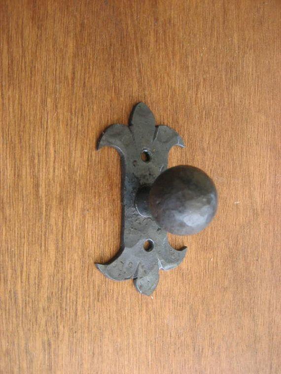 spanish revival hardware iron cabinet knob by Bushereironstudio ...