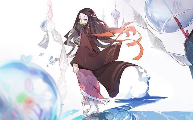 Nezuko Kamado【2020】(画像あり) 羊 イラスト, アニメの女の子, 漫画の壁紙