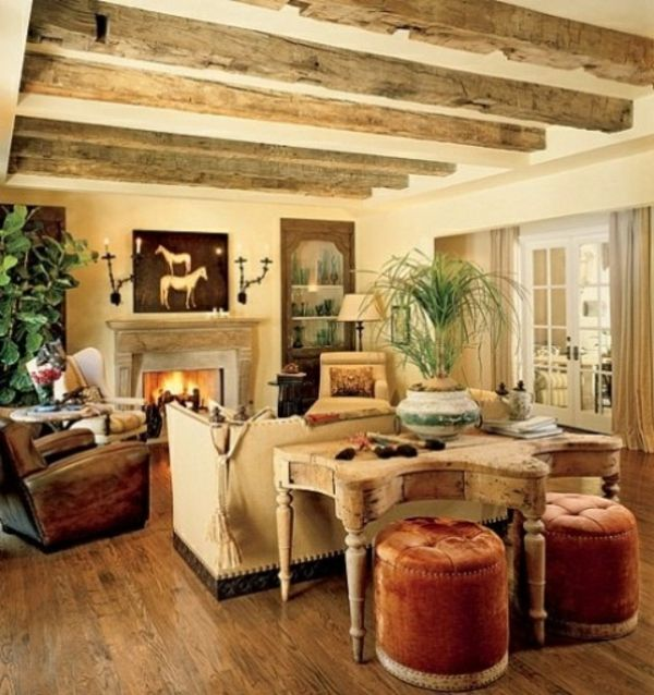 cooles-wohnzimmer-rustikal-zwei-hocker | architektur ideen ...