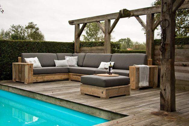 Bauholz Xxl Eckbank Etsy Bauen Mit Holz Lounge Mobel Gartensofa