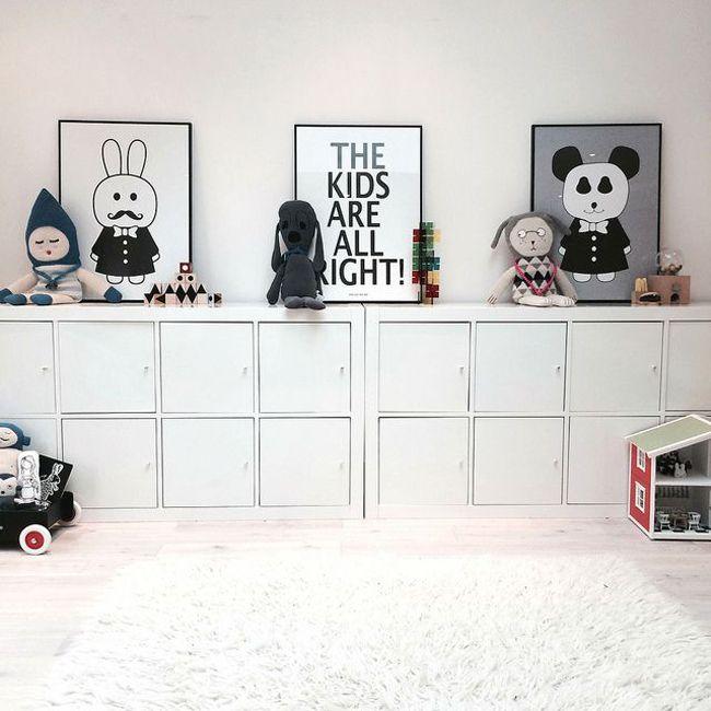 rangements ikea dans une chambre enfant - Rangement Chambre Fille Ikea
