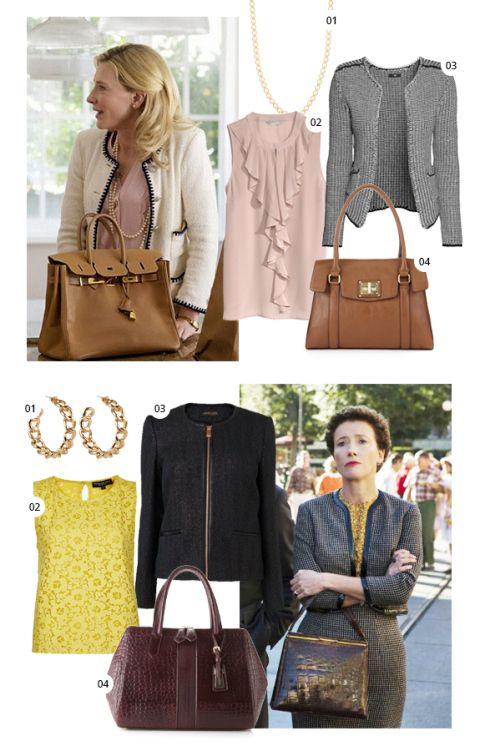 BAFTA Nominees Cate Blanchett and Emma Thompson – big bags and little jackets