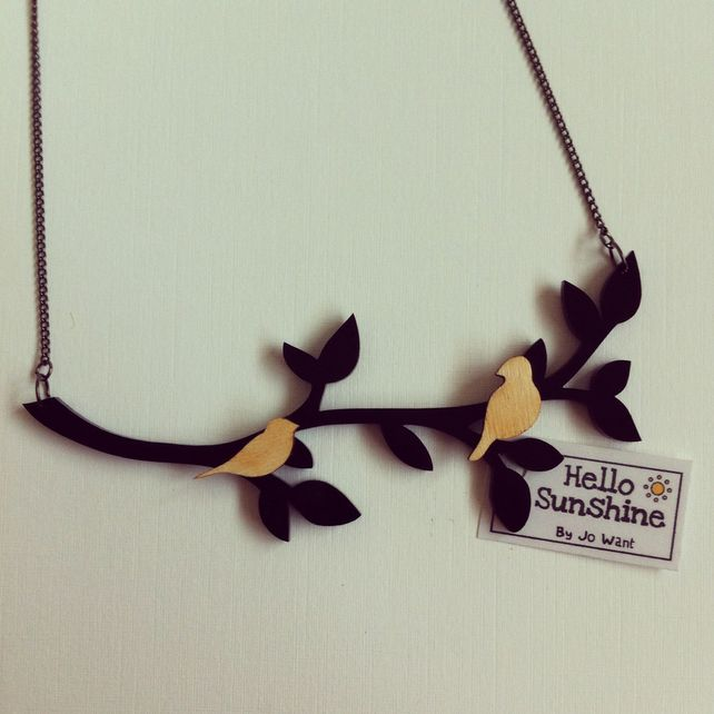 Tree Top necklace handmade by Hello Sunshine