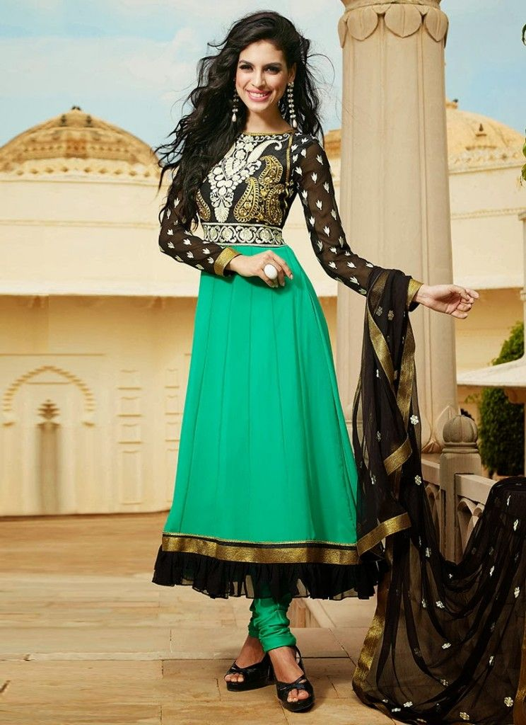 da0a3eeff2 New Indian Fashion Long Shirt Anarkali Dresses for Girls 2014-2015 Fancy  Embroidered Collection (25)