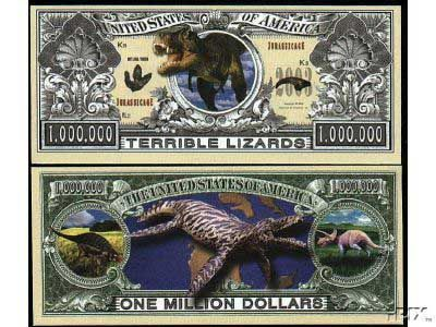 Velociraptor Dino Series Million Dollar Novelty Money