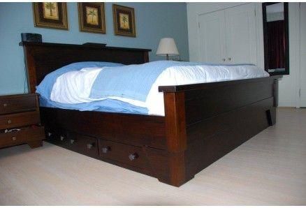 Solid Wood King Bed Frames | Sumatra Valley Storage Bed | Toronto ...
