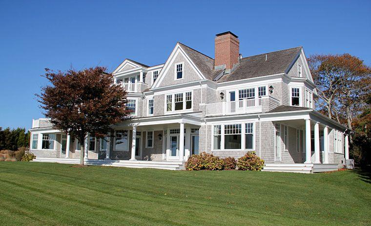 Best Gray Cedar Shingle House With Lots Of White Trim Shingle 400 x 300