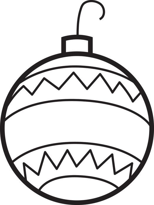 Christmas Ornaments Coloring Page 2