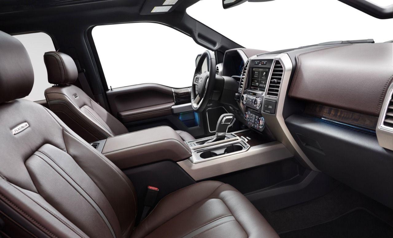 Detroit 2014 2015 Ford F 150 Platinum Edition Interior Left