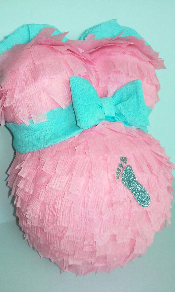 Cute Pregnant Belly Pinata For Baby Shower Gender Reveal Shower