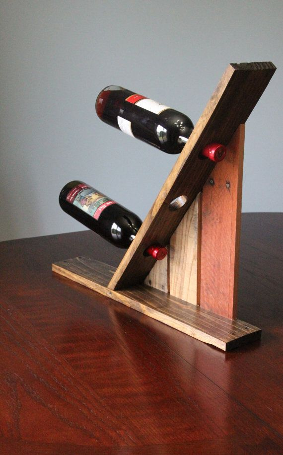 Table Top Reclaimed Pallet Wood Furniture Wine Rack 2 Pallet