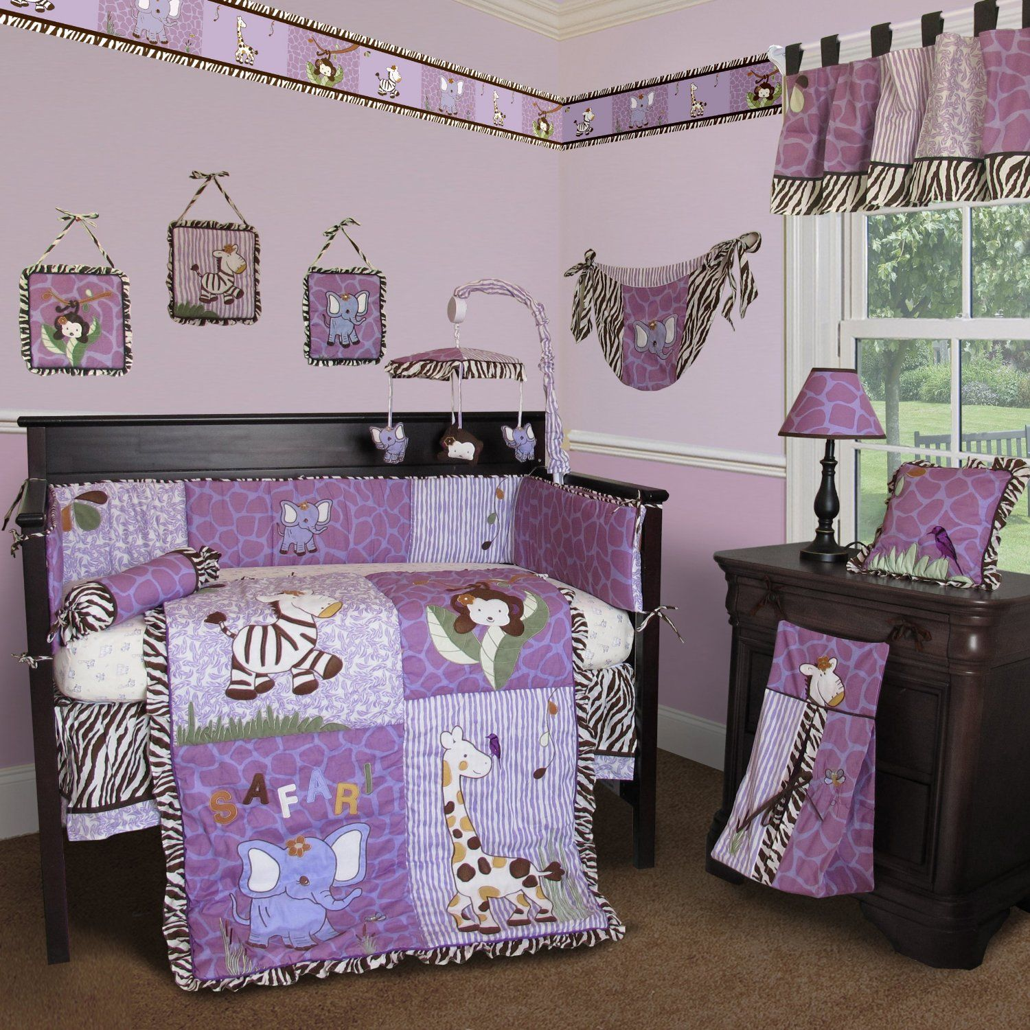 Planning A Purple Nursery For Ava I Like The Colors But We Ll Do Flowers Not Animals