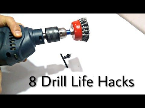 3 Drill Hacks Homemade Tools Using A Drill Youtube