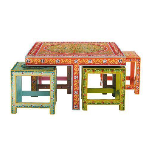Table Basse Et Ses 4 Tabourets Roulotte Maisons Du Monde Table Basse Peindre Un Tableau Maison Du Monde Table Basse