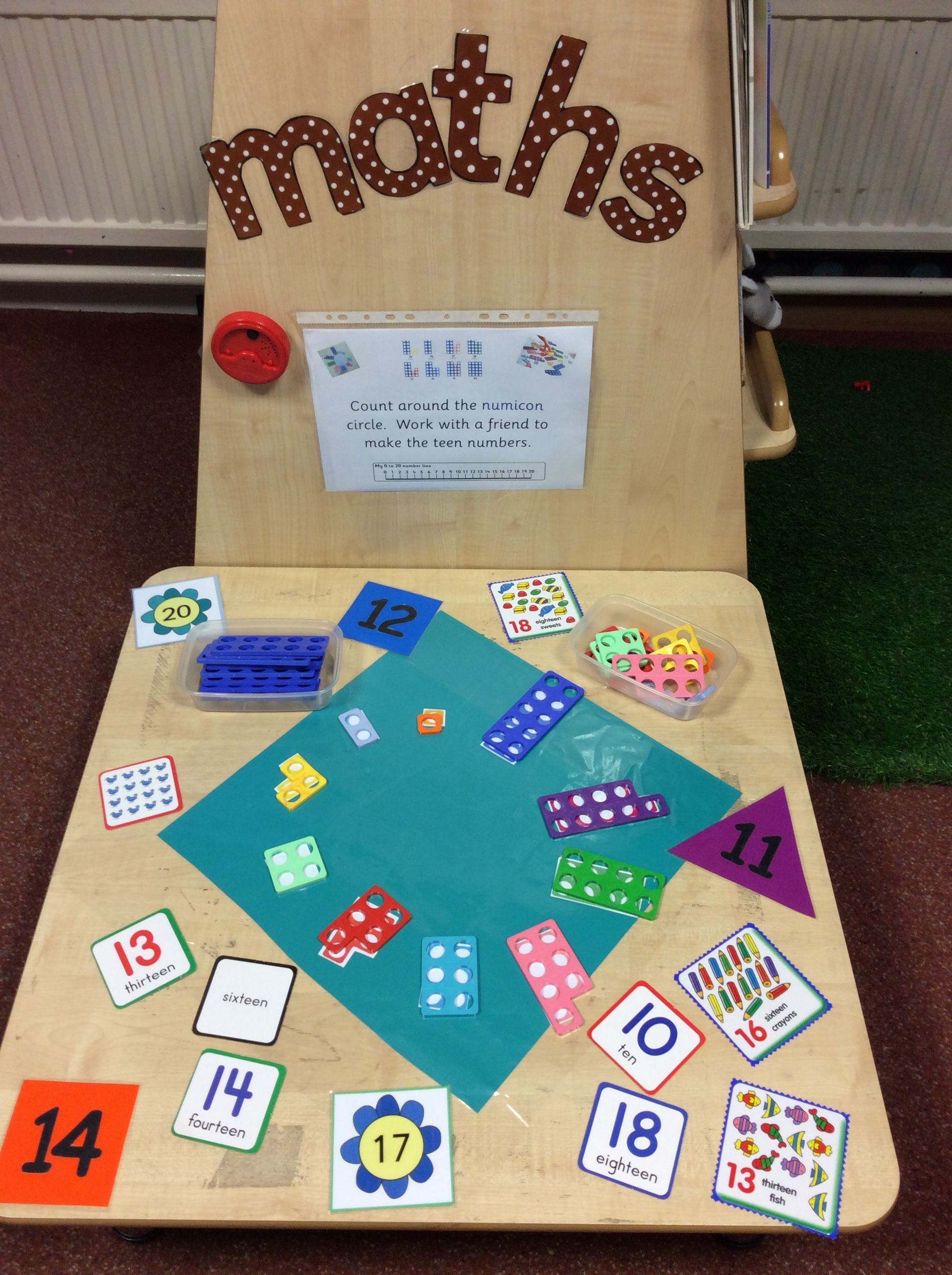Specific challenge EYFS numicon maths teen numbers place value ...