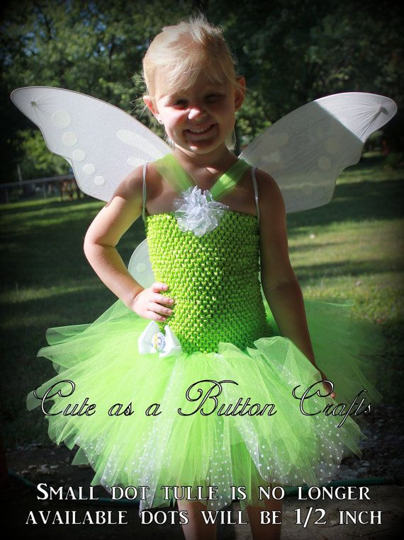 Adorable toddler halloween costume Tinkerbell by tootoocute4you  sc 1 st  Pinterest & Adorable Toddler Halloween Costume  Fairy Tutu  Pixie cut dress ...