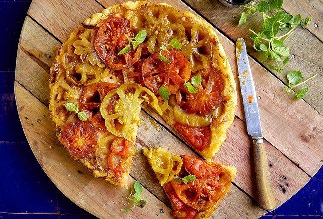 Tarte Tatin met coeur de boeuf-tomaat