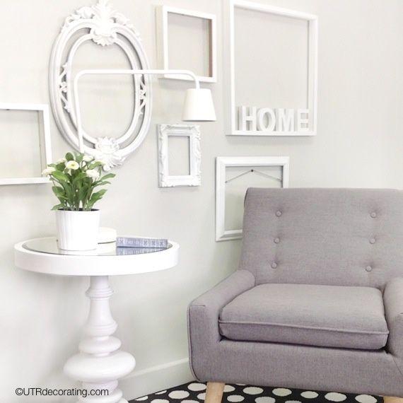designer walls on a garage sale budget | blog, garage e cornici vuote
