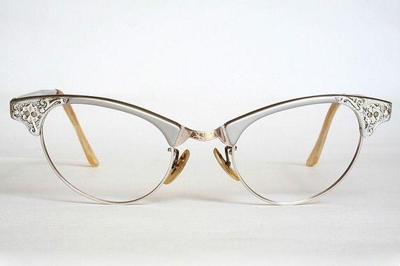 3a8a6762fc Artcraft Aluminum Filigree Cat Eye Glasses Sunglasses Frames with ...