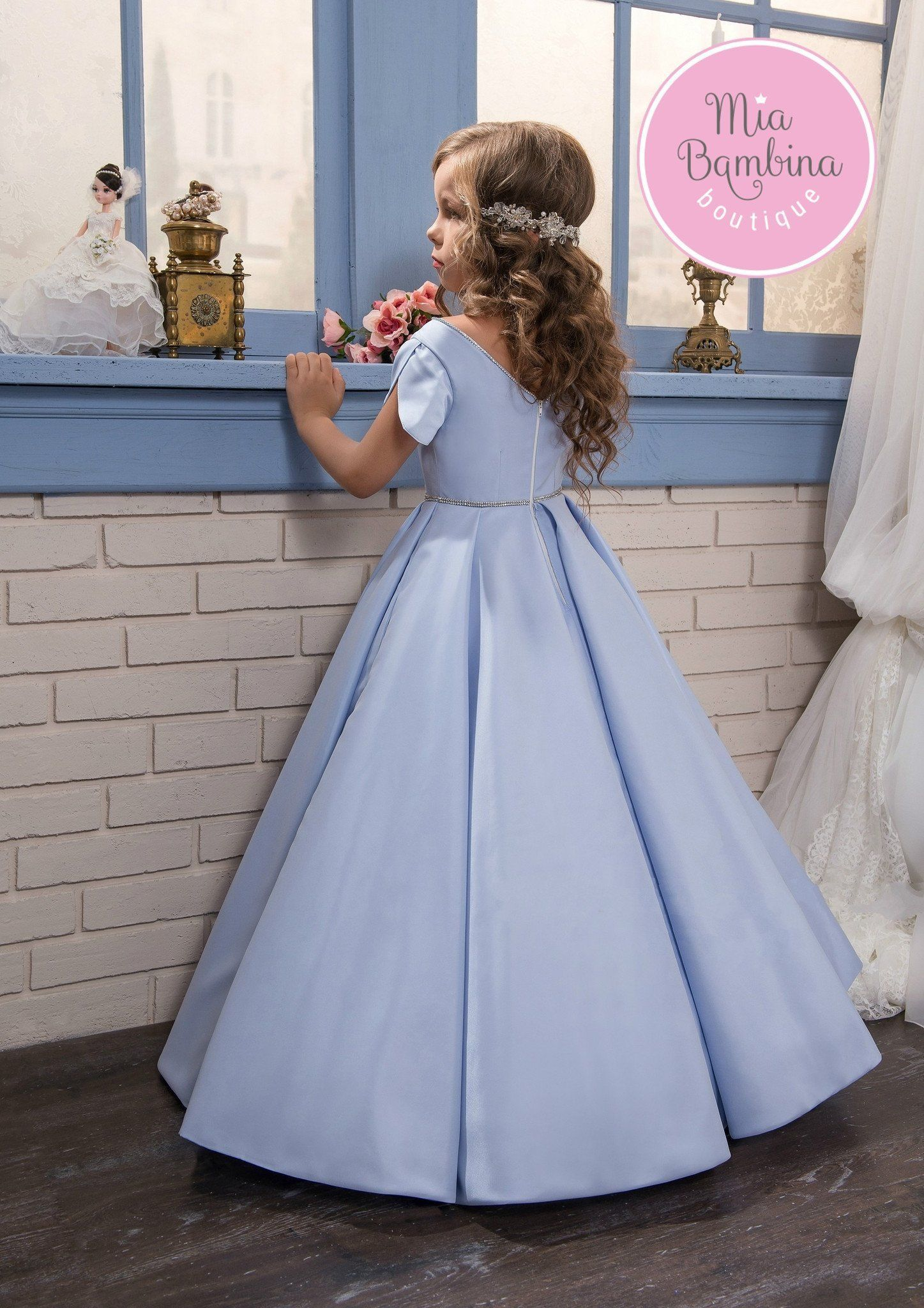 Montgomery flower girl dresses girls dresses and satin gown