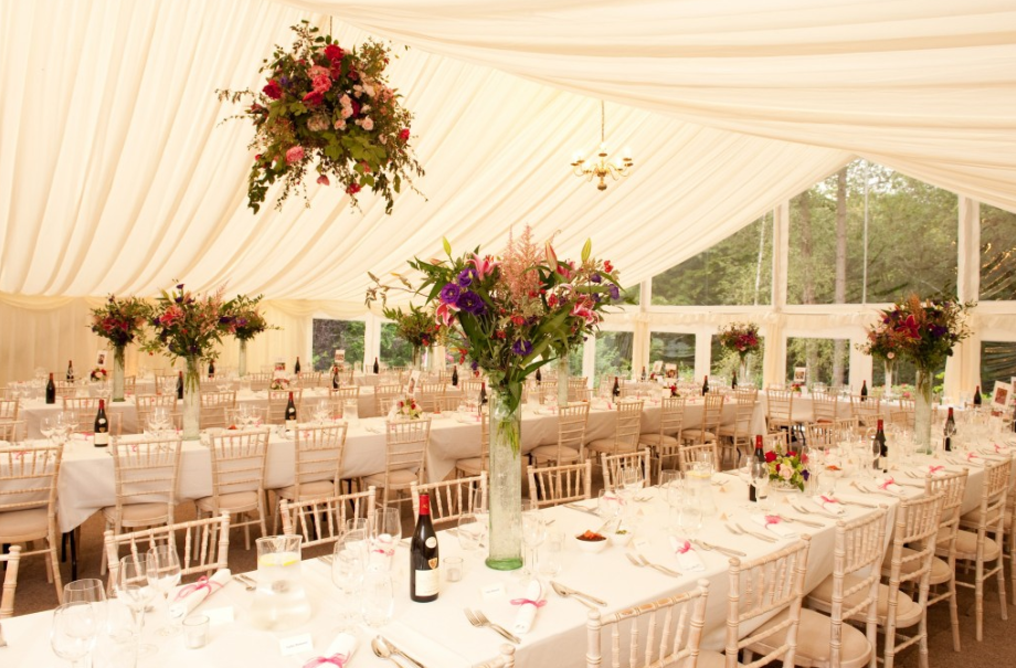 marquee table layout